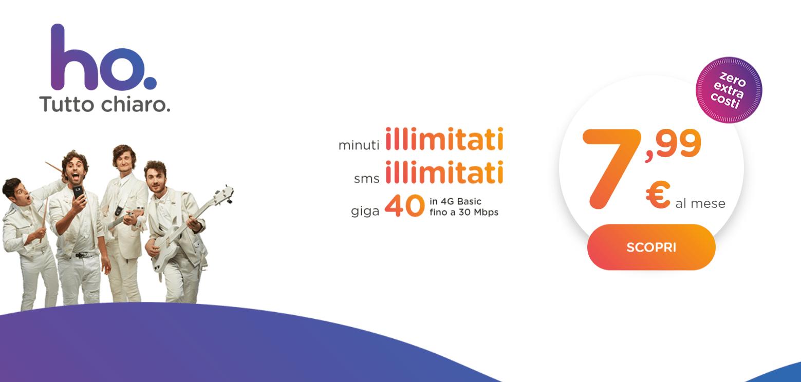 la nuova promozione riservata ai clienti Ho. mobile ad agosto 2018
