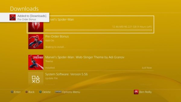 Spider-Man PS4: Disponibile il preload del gioco